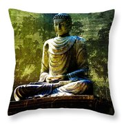 Seated Buddha Throw Pillow