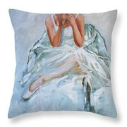 Seated Dancer Throw Pillow