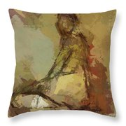Seated Figure Throw Pillow
