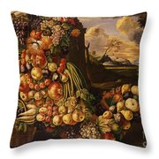 Seated Figure Of Summer, 1573  Throw Pillow
