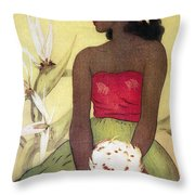 Seated Hula Dancer Throw Pillow