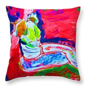 Seated Muse Throw Pillow