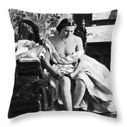 Seated Nude, C1861 Throw Pillow