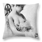 Seated Nude, C1865 Throw Pillow