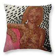 Seated Nude Throw Pillow