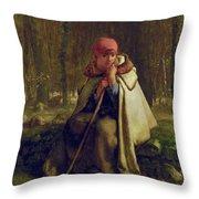 Seated Shepherdess Throw Pillow