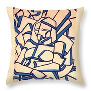 Seated Women Throw Pillow