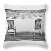 Seating For Two Throw Pillow