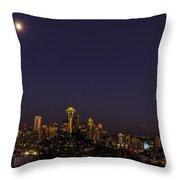Seattle After Dak Throw Pillow
