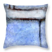 Seattle Afternoon Abstract Throw Pillow