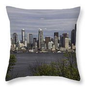 Seattle At Its Best Throw Pillow