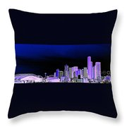Seattle Blue 2 Throw Pillow