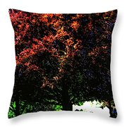 Seattle Chateau Ste Michelle Tree Throw Pillow