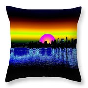 Seattle Dawning Throw Pillow