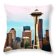 Seattle Daylight Throw Pillow