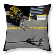 Seattle Dog On The Pier  Throw Pillow