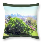 Seattle From A Hill Throw Pillow