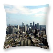 Seattle From Above Throw Pillow