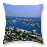 Seattle From Space Needle Throw Pillow
