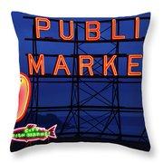 Seattle Glow Throw Pillow