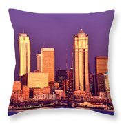Seattle Gold Reflection  Throw Pillow