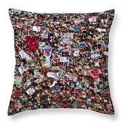 Seattle Gum Wall #2 Throw Pillow