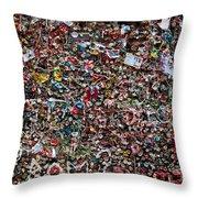 Seattle Gum Wall Throw Pillow