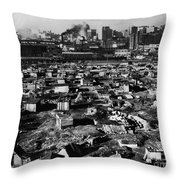 Seattle: Hooverville, 1933 Throw Pillow