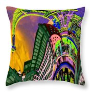 Seattle In Daliland Throw Pillow