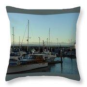 Seattle Marina Throw Pillow
