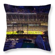 Seattle Mariners Safeco Field Night Game Throw Pillow