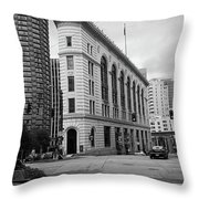 Seattle - Misty Architecture 2 Bw Throw Pillow