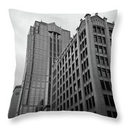 Seattle - Misty Architecture 3 Bw Throw Pillow