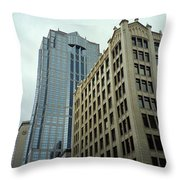 Seattle - Misty Architecture 3 Throw Pillow