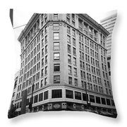 Seattle - Misty Architecture Bw Throw Pillow
