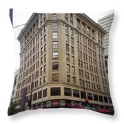 Seattle - Misty Architecture Throw Pillow