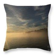 Seattle Morning Fog Throw Pillow