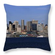 Seattle Panoramic Throw Pillow