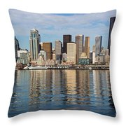 Seattle Reflection Throw Pillow