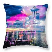 Seattle Rose Throw Pillow