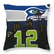 Love Our Team Throw Pillow