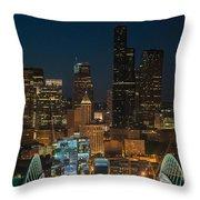 Seattle Seahawks Where The Magic Happens Throw Pillow