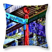 Seattle Sights Throw Pillow