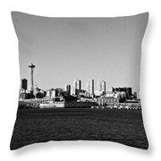 Seattle Skyline #2 Throw Pillow