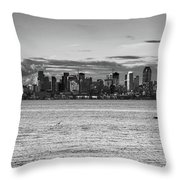 Seattle Skyline 3 Throw Pillow