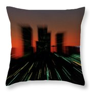 Seattle Skyline Motion Throw Pillow
