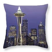 Seattle Space Needle 0200 Throw Pillow