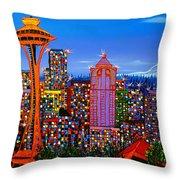 Seattle Space Needle 5 Throw Pillow
