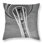 Seattle Space Needle Bw Throw Pillow