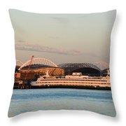 Seattle Stadiums Throw Pillow